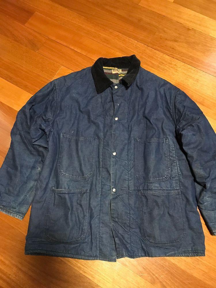 8f7f077142b Vintage Bilt-well Sanfornized Blanket Chore Jacket  fashion  clothing   shoes  accessories