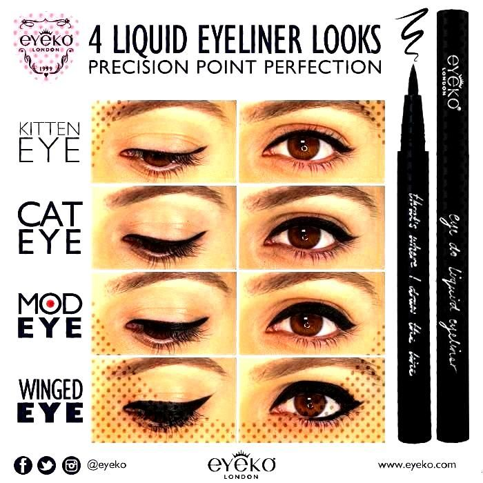 4 LIQUID EYELINER LOOKSYou can find Liquid eyeliner for beginners and more on our website.4 LIQUID