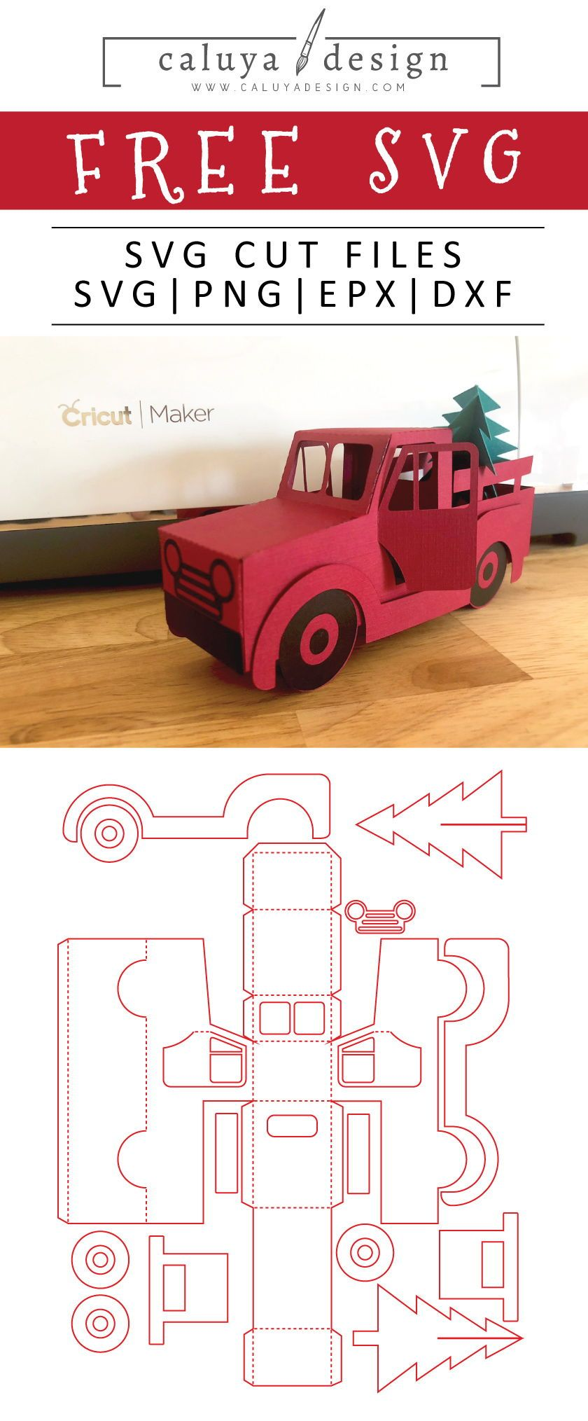 Free 3d Christmas Truck Svg Png Eps Dxf By With Images