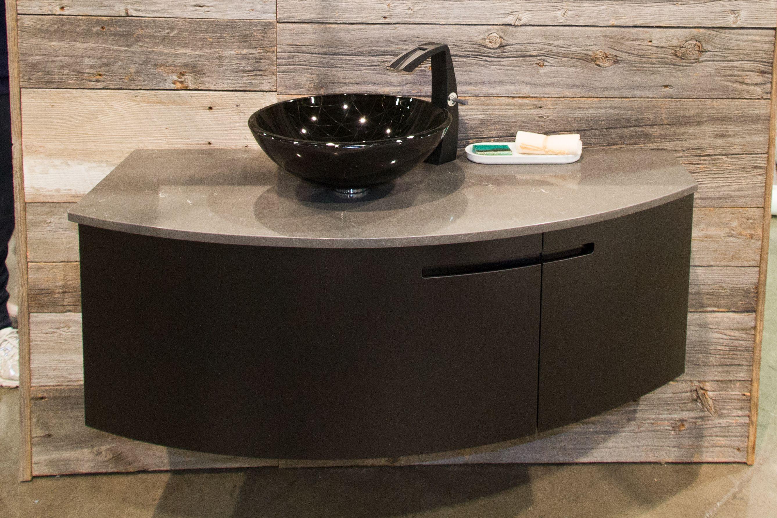 Bathroom Faucets Black Finish aquabrass etna faucet in black finish, black glass basin and