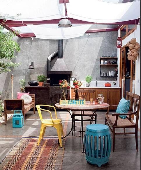 Em áreas externas – Tem tudo a ver com o ambiente mais rústico da casa.