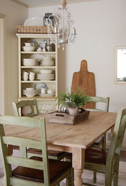 distressed table and chairs someday when ours get old and dinged up rh pinterest com