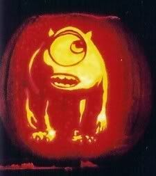 Mike wazowski pumpkin photo this photo was uploaded by for Sully pumpkin template