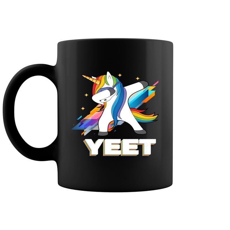 Dabbing Dancing Yeet Colorful Unicorn Celebration Funny #nationalcoffeedayideas