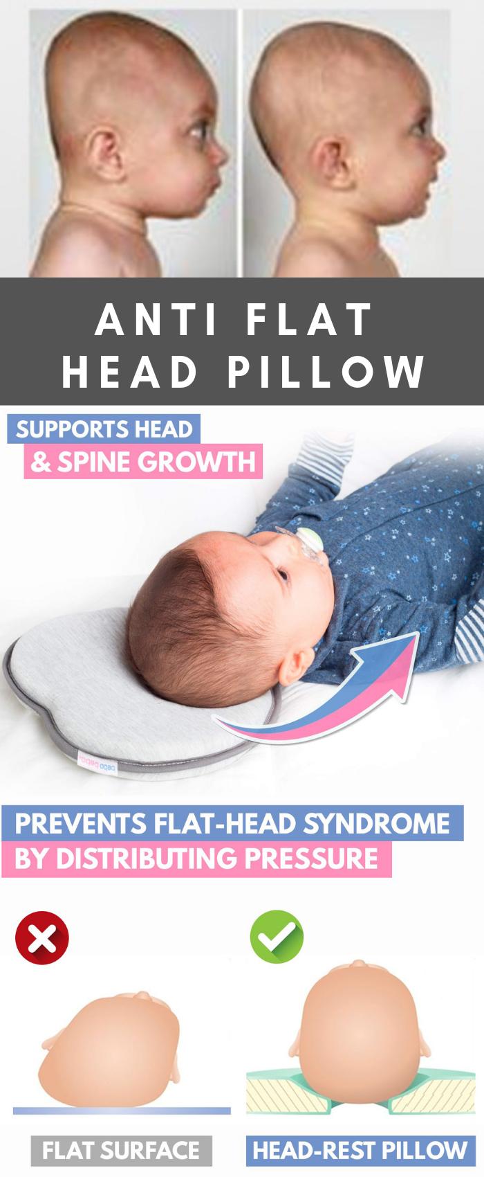 Baby correct anti head pillow