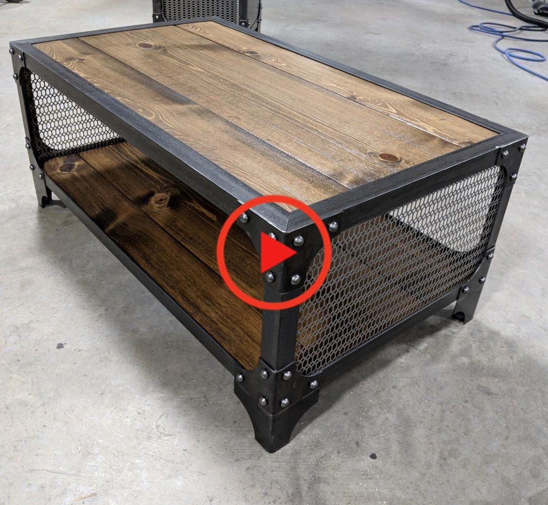 Hout Mesh Coffee Table Industrial Style Coffee Table Industrial Furniture Modern Industrial Furniture [ 996 x 1080 Pixel ]