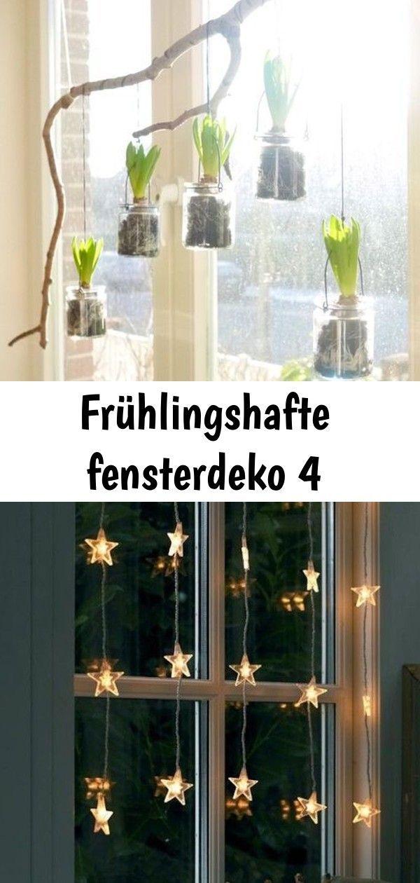 Photo of Frühlingshafte fensterdeko 4 #astdekoweihnachten Neulich waren die Gläser noch …