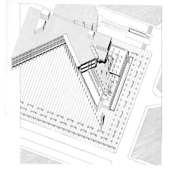 ayuntamiento de logro o rafael moneo 1980 architectural images House Exterior Diagram ayuntamiento de logro o rafael moneo 1980 axonometric drawing concept diagram architecture