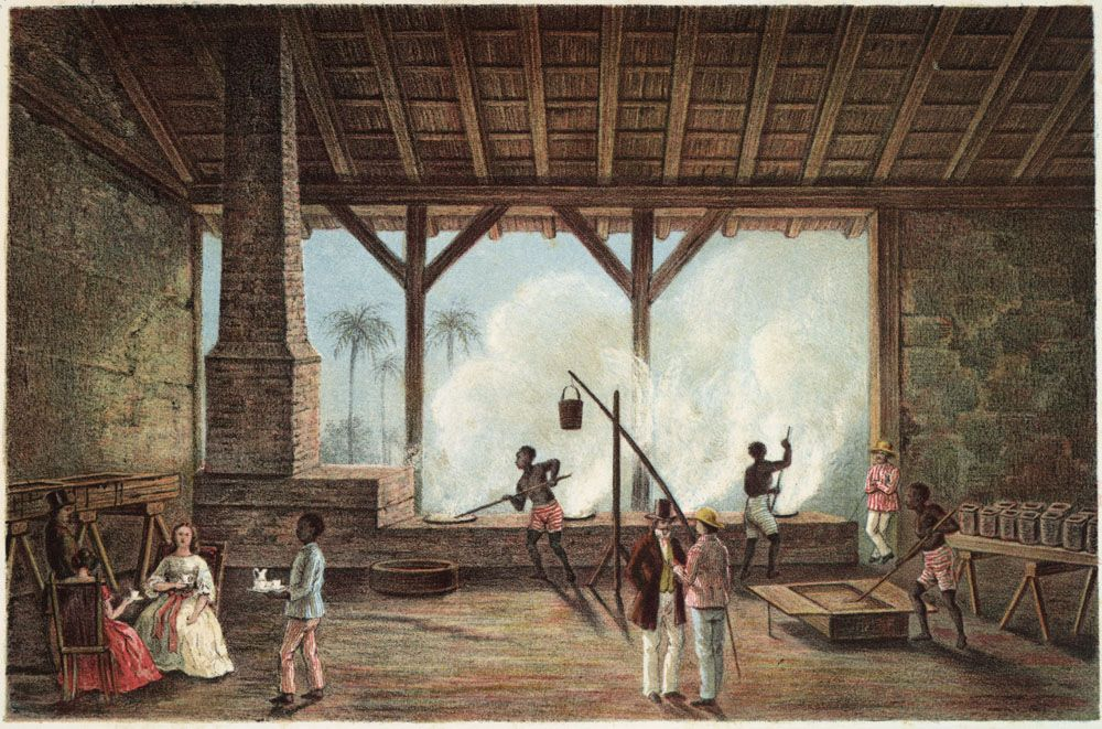 Sugar Boiling House, Cuba, ca. 1850 Esclavage, Endroits