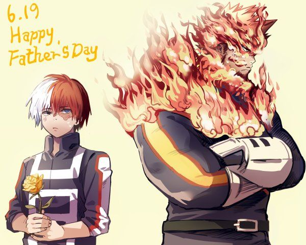 Boku No Hero Academia Todoroki Shouto Todoroki Enji Endeavor Anime Dad My Hero Academia Shouto Boku No Hero Academia