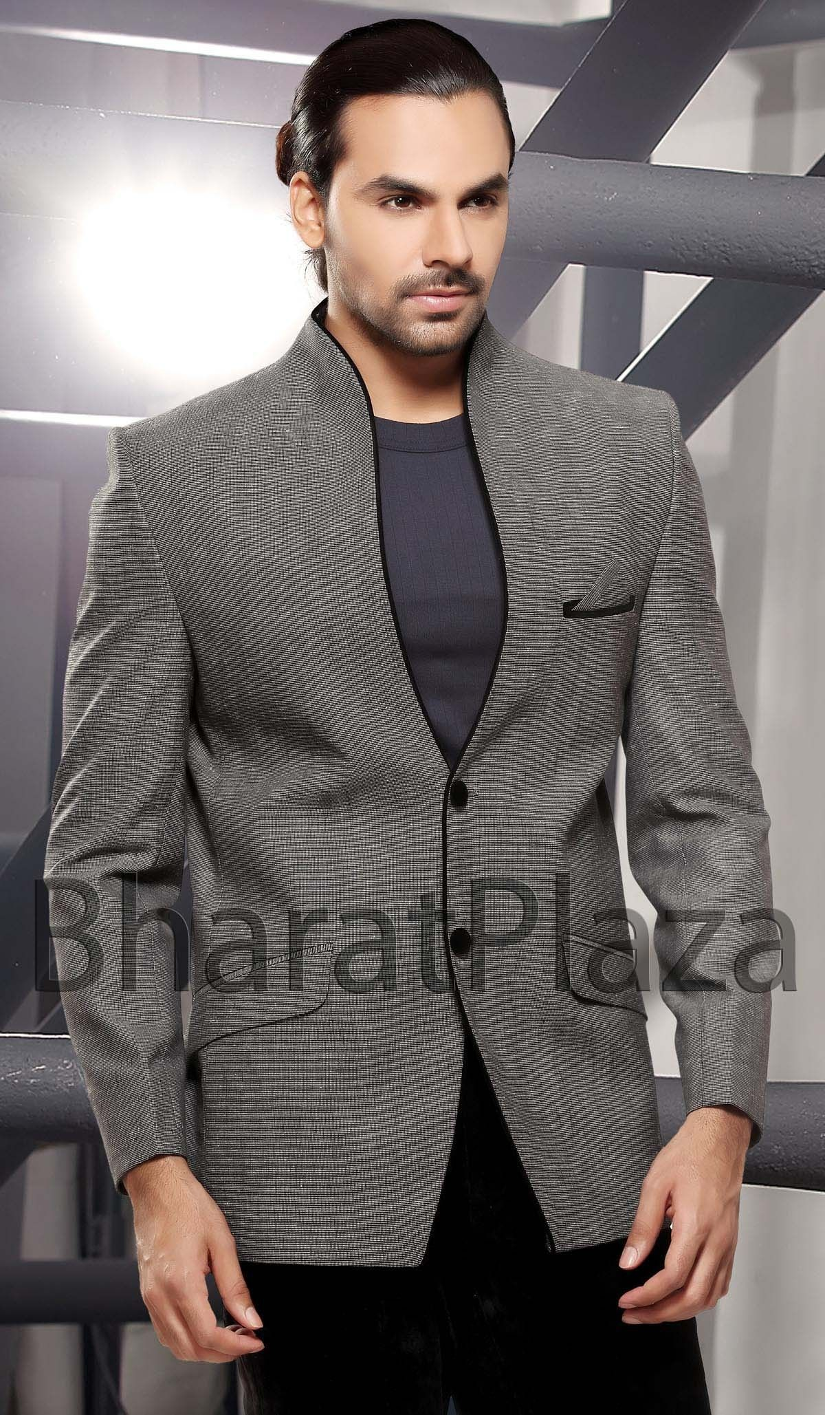 Aristocratic Dark Grey Blazer | Lapelless | Pinterest | Mens ...