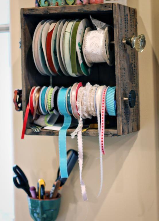 Ribbon Holder Tutorial Ribbon Holders Craft Room Storage Craft Room Organization