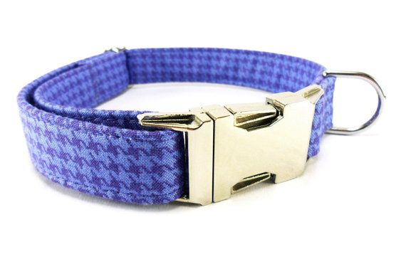 HOUNDSTOOTH for BOYS Dog Collar HANDMADE by GingersWonders on Etsy, $28.00