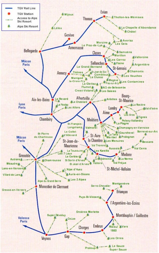 Map Of The Alps In France.Tgv Lyon French Alps For Skiing Fun France Alps Euro Ski Maps
