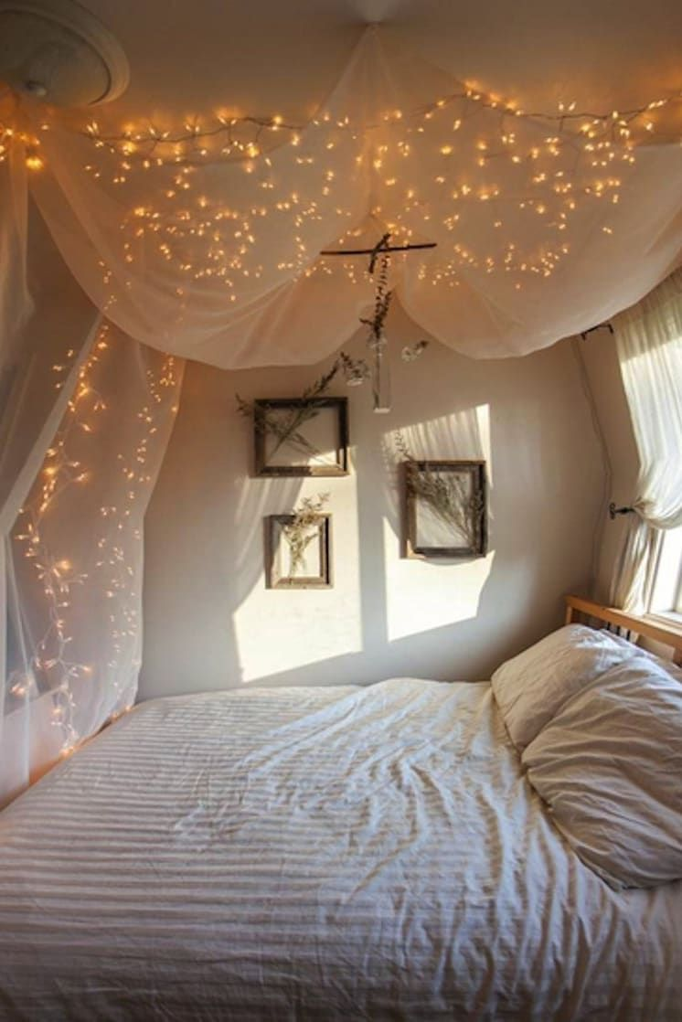 14 Diy Canopies You Need To Make For Your Bedroom Home Bedroom Dream Rooms Fairy Lights Bedroom