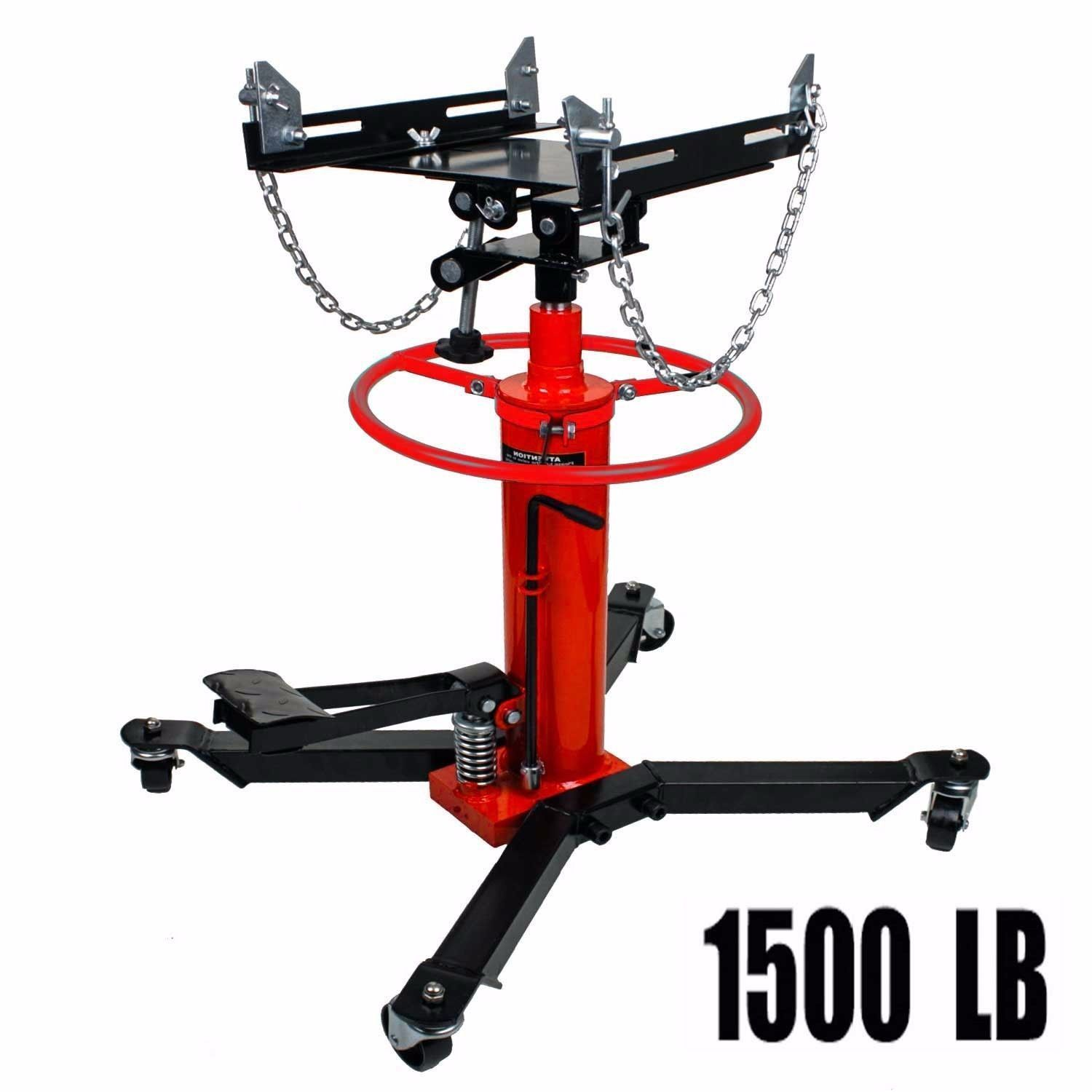 Details about A+1660lbs 0.75Ton Transmission Jack 2 Stage