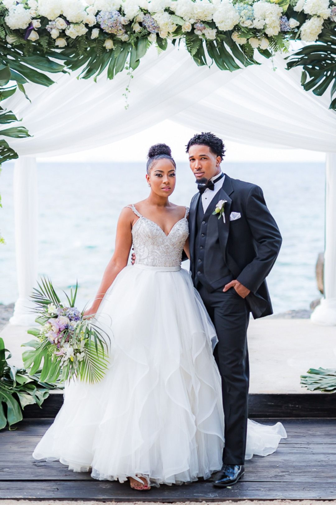 One Love Luxury Cliffside Wedding In Jamaica Black Nuptials Beach Style Wedding Dresses Beach Wedding Black Jamaica Wedding