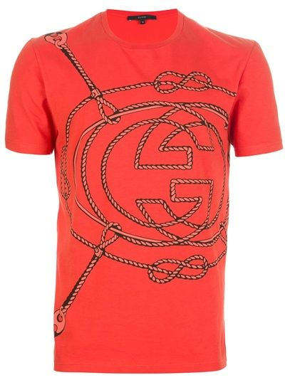 1c5fb7614b7 Explore the latest men s fashion must haves for 2019 with Farfetch. GUCCI  Rope Logo T-Shirt. GUCCI Rope Logo T-Shirt Gucci Shirts ...