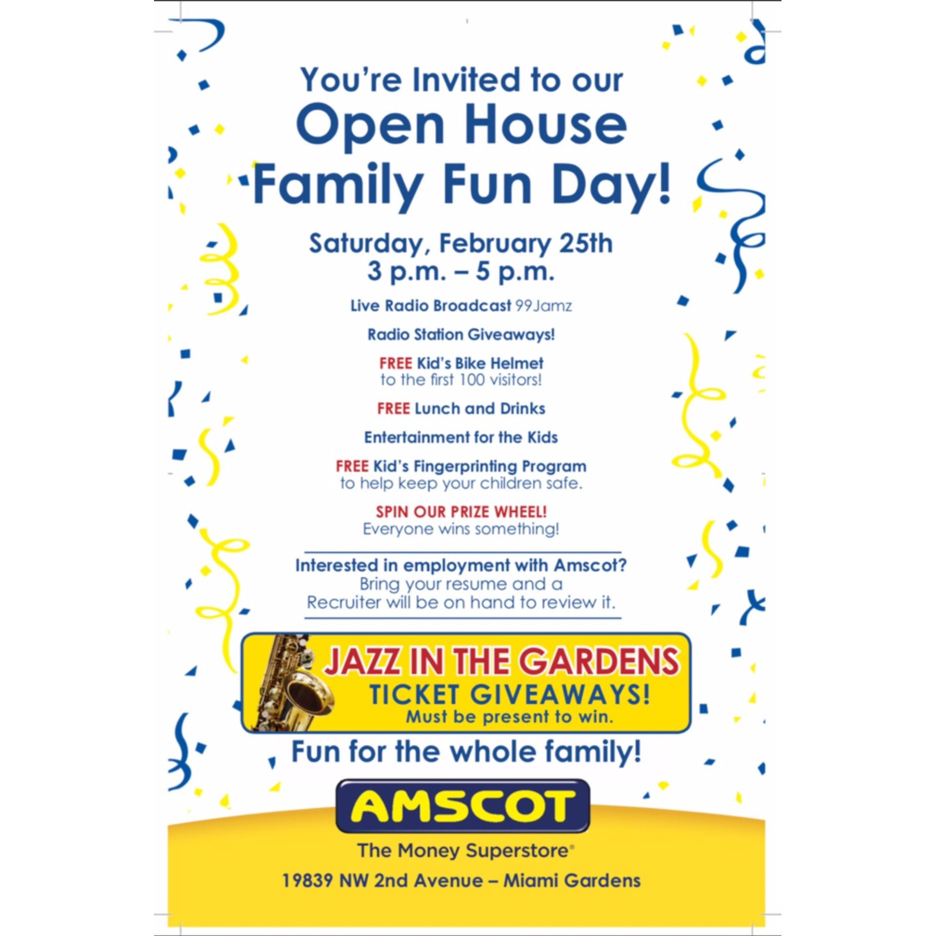 Did somebody say Family Fun Day? Join Jazz in the Gardens