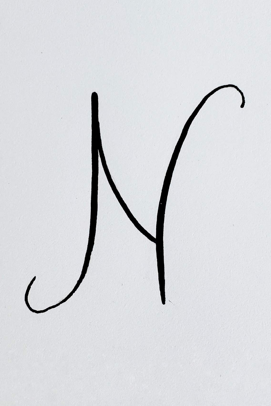N In Calligraphy : calligraphy, Letter, Things, Night, Style, Study, Lettering,, Alphabet, Style,
