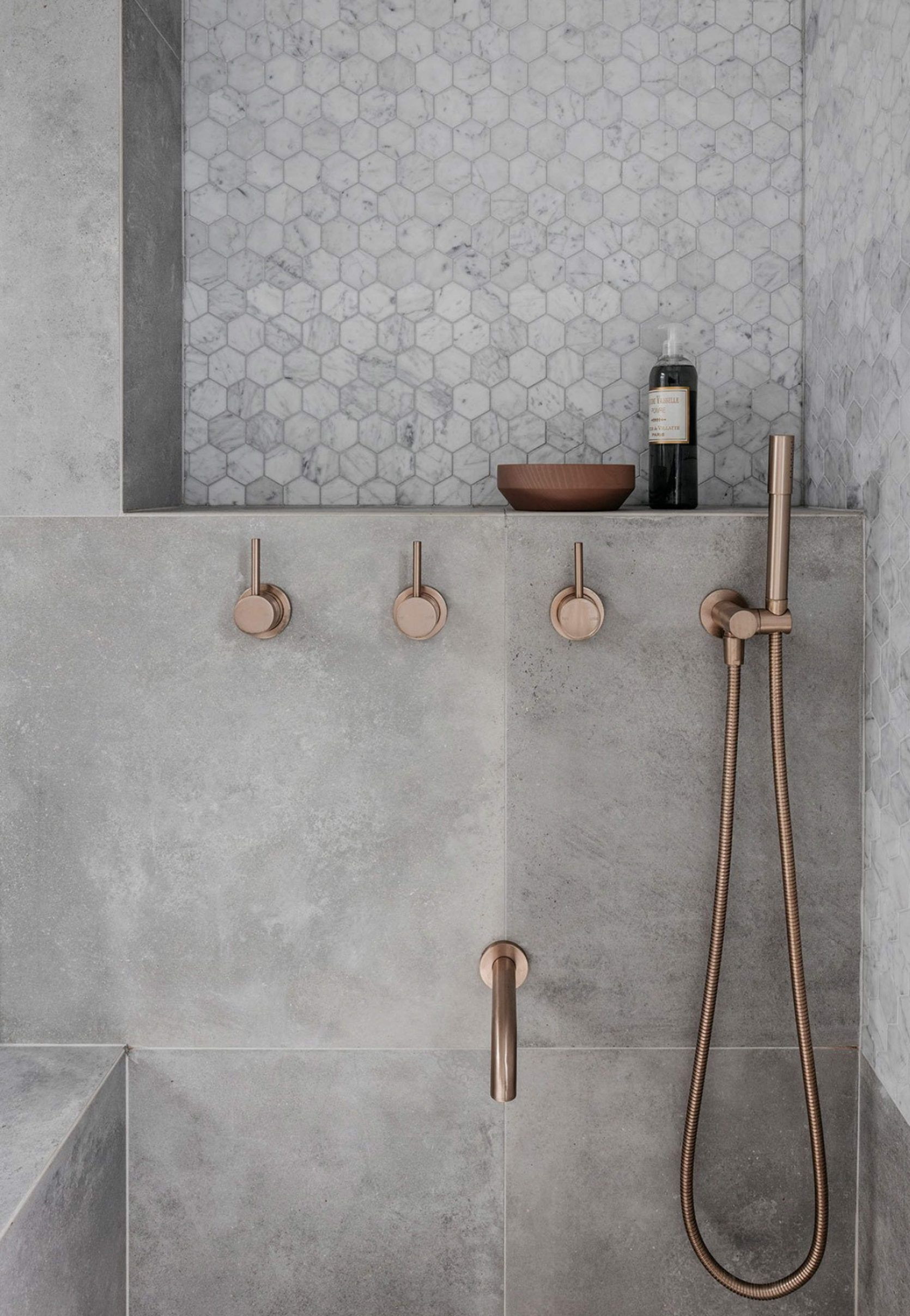 "Photo of Rethinking the shower niche (& why I think the bar is ""wider"")"