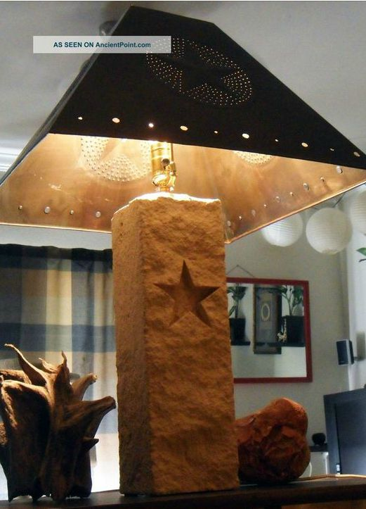 Stone And Metal Texas Star Lamp