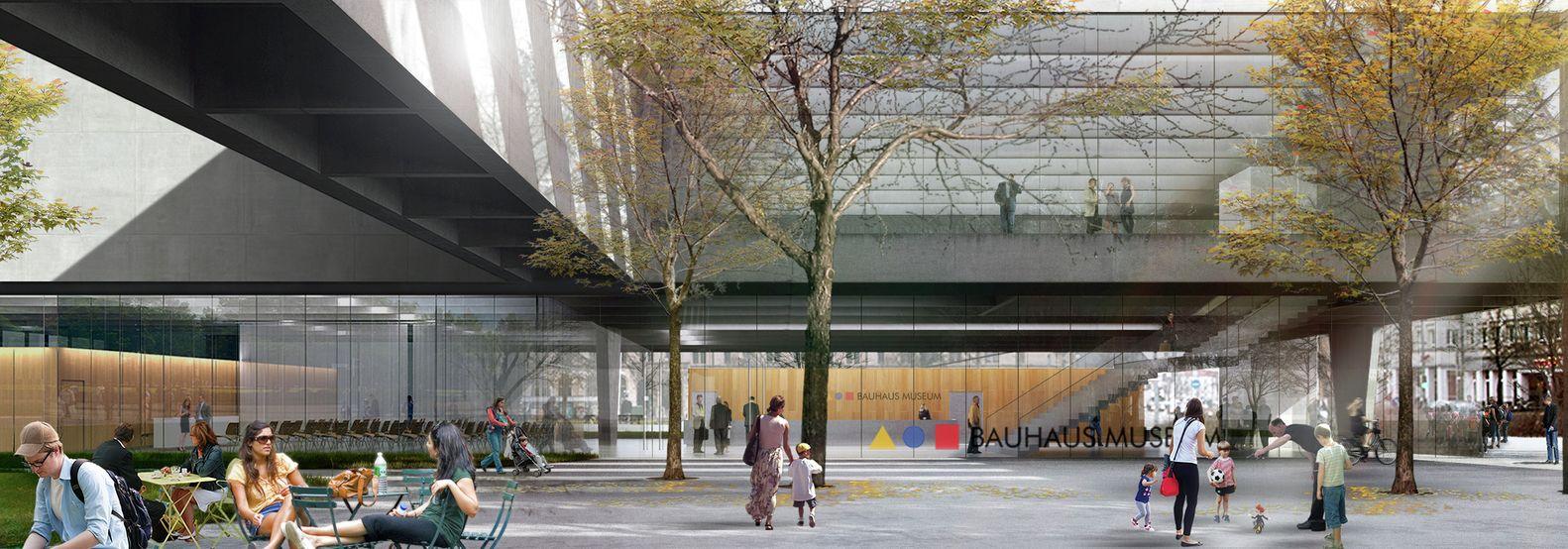 Galeria - Proposta finalista para o Museu Bauhaus faz uma ponte entre a cidade e o parque - 13