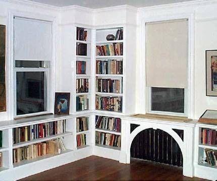 Custom Built In Under The Window Storage Bookshelves Cabinets