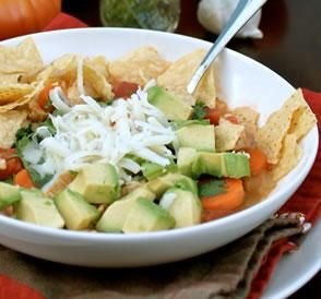 "Nearly Famous Chicken Tortilla Soup: ""This is a thin (but not watery) broth-based tortilla soup with LOTS of veggies and toppings. I would venture to say it is my MOST requested recipe."" -spicyperspective"