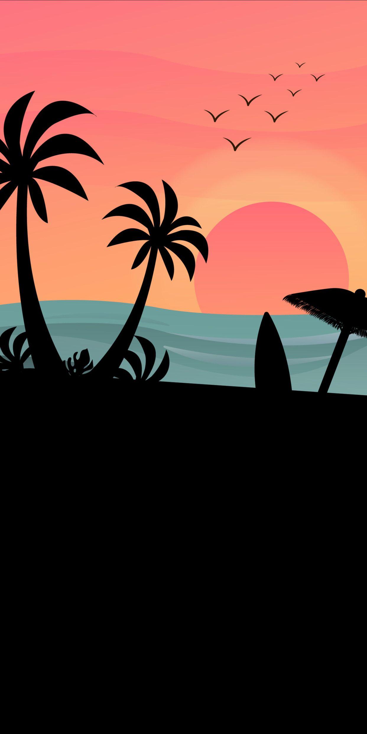 OLED Beach Scene