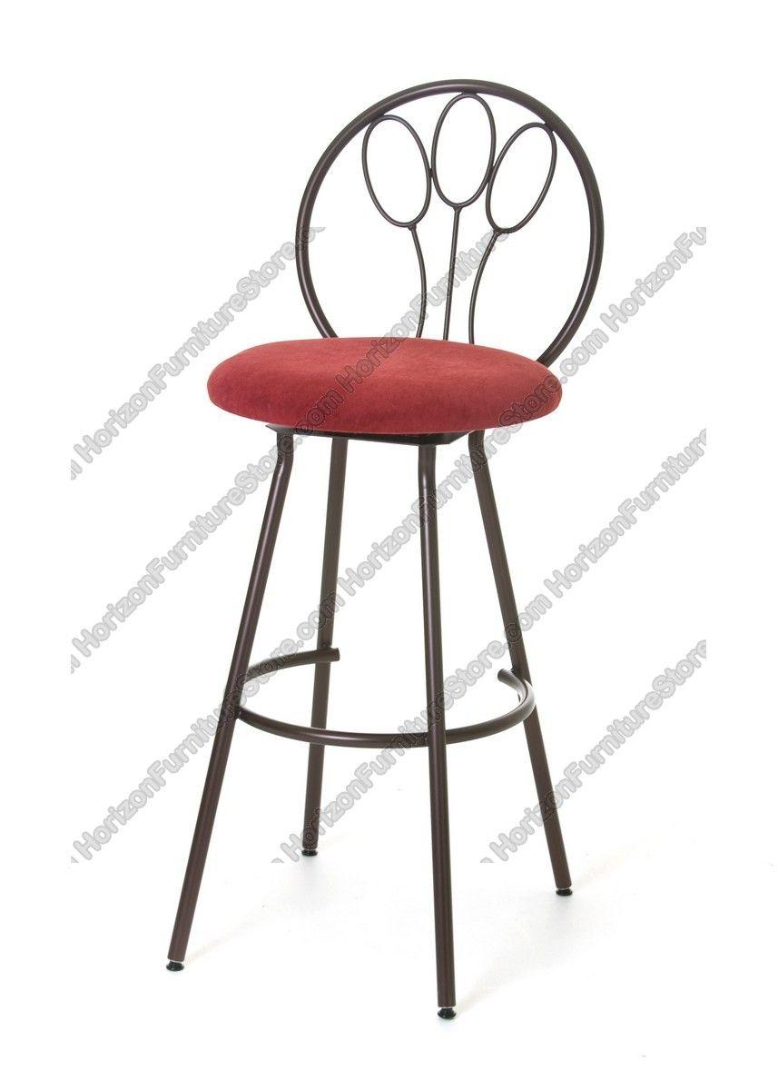 Amisco Jasmine Swivel Stool 41453 Kitchen Dinette Sets Bar Stools
