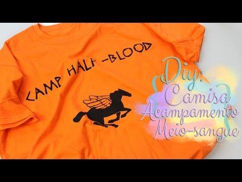 Diy Camisa Acampamento Meio Sangue Percy Jackson E Os