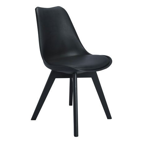 169 Brandon Dining Chair BlackBlackFreedomOffice Fitout
