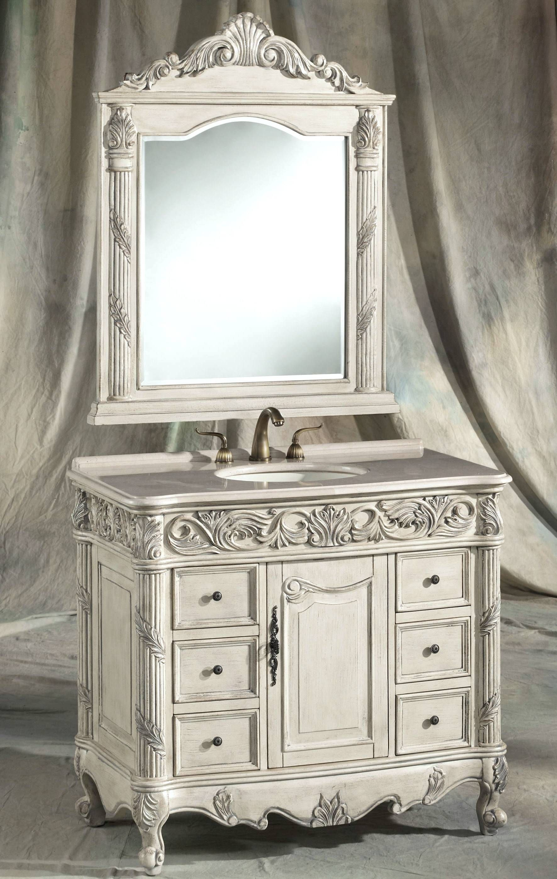 Our Main Bathroom Vanity Mirror Shabby Chic Bathroom Vanity Shabby Chic Bathroom Chic Bathrooms