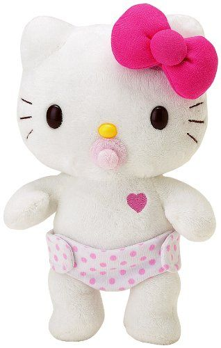 2e6a2d7c14 Sanrio Hello Kitty Baby Dress Me Plush Haha my daughter would dig this.
