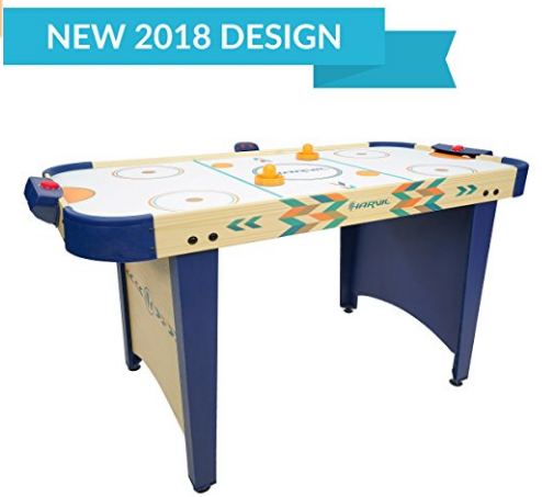 Harvil 4 Foot Air Hockey Game Table For Kids And Adults With Electronic Scorer Free Pushers And Pucks Air Hockey Tables Air Hockey Table Air Hockey