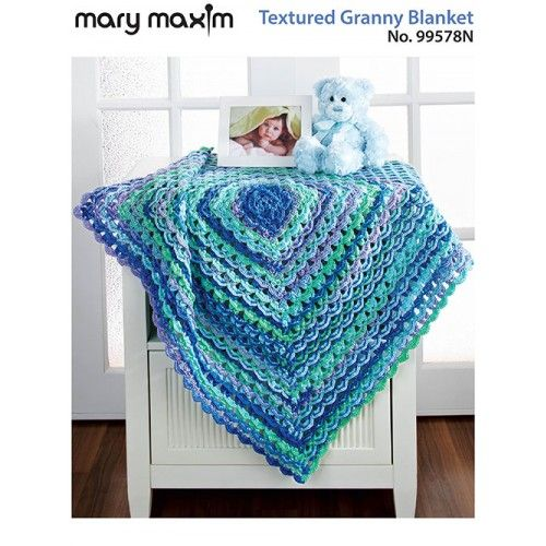Textured Granny Blanket - Pattern Only | Blanket, Patterns and Crochet