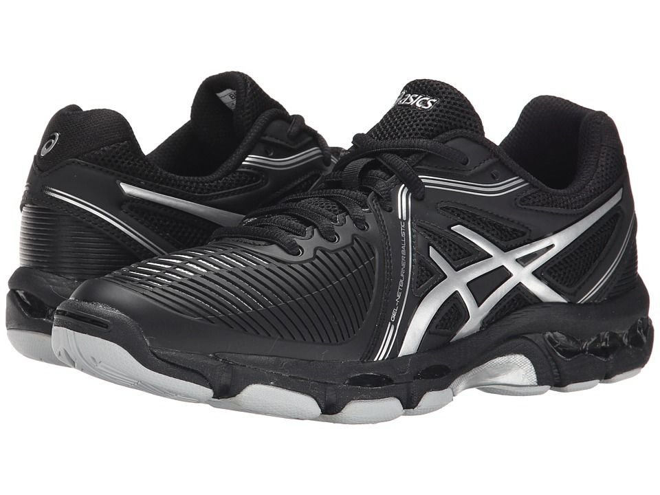 ASICS ASICS - GEL-NETBURNER BALLISTICTM (BLACK/SILVER) WOMEN'S VOLLEYBALL  SHOES.
