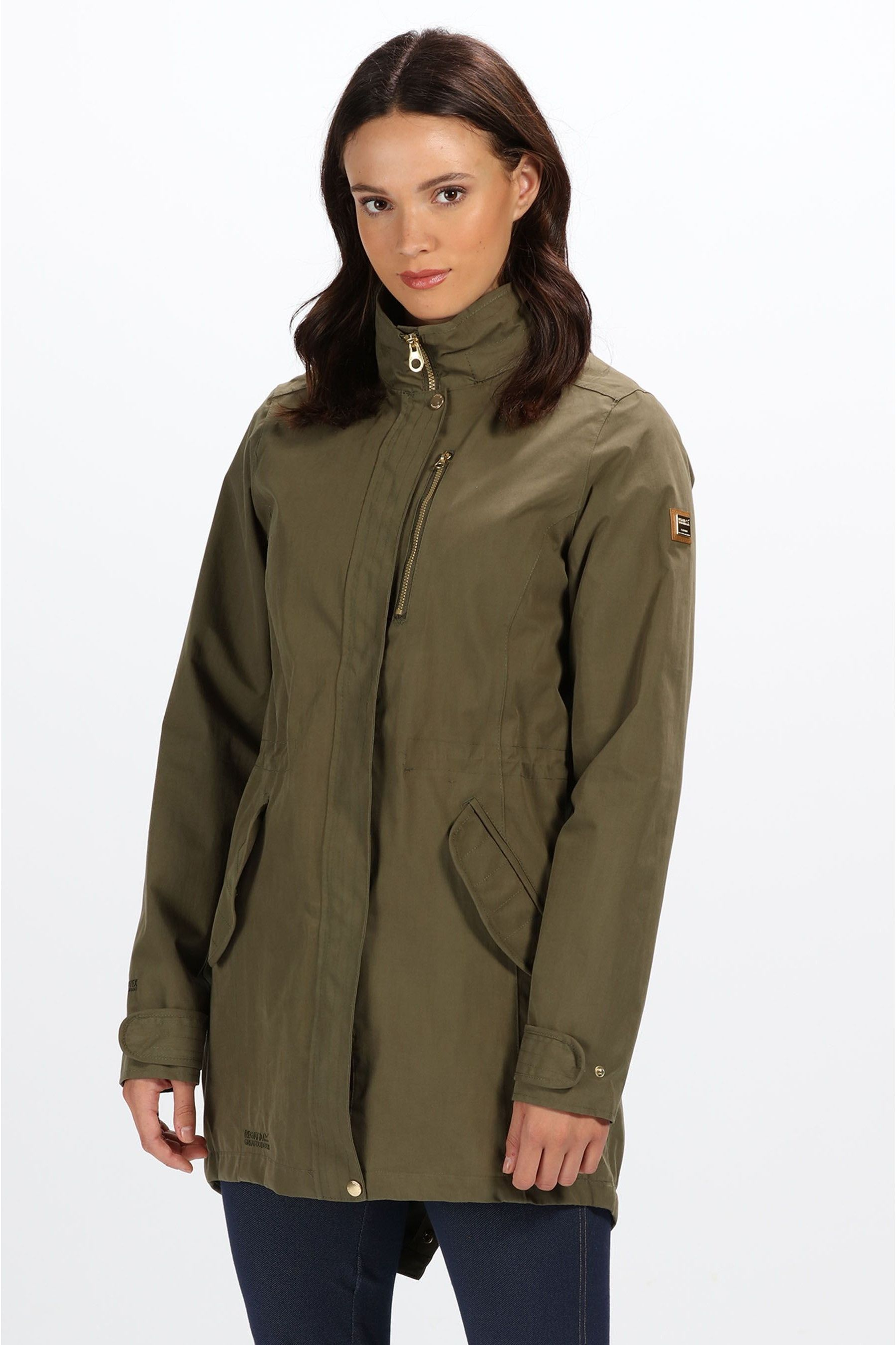 Alzea womens regatta alzea waterproof jacket - green   jackets
