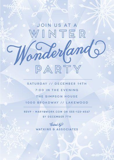 party invitations winter wonderland