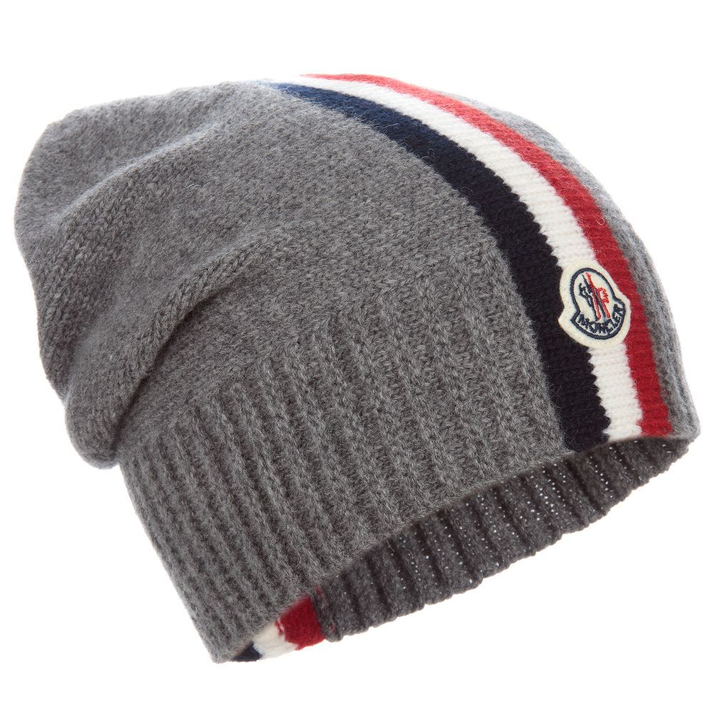 Boys Knitted Wool Hat for Boy by Moncler. Discover the latest designer Hats  for kids online 32da6c4567d