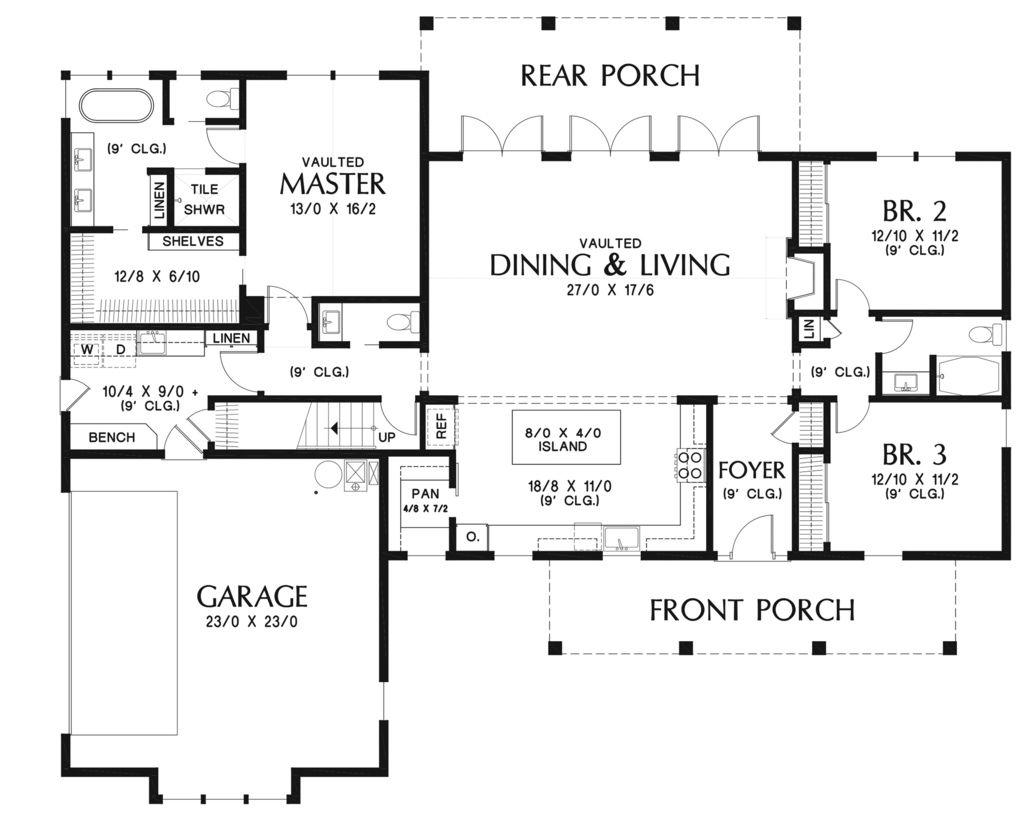 Farmhouse Style House Plan 3 Beds 2 5 Baths 2490 Sq Ft Plan 48 940 Farmhouse Style House Plans Farmhouse Floor Plans Farmhouse Style House