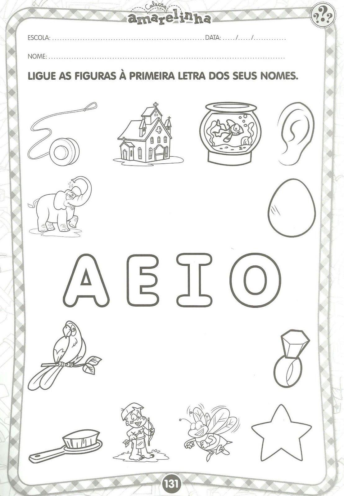 Conhecido Atividades Educativas com vogais | Samara AO22