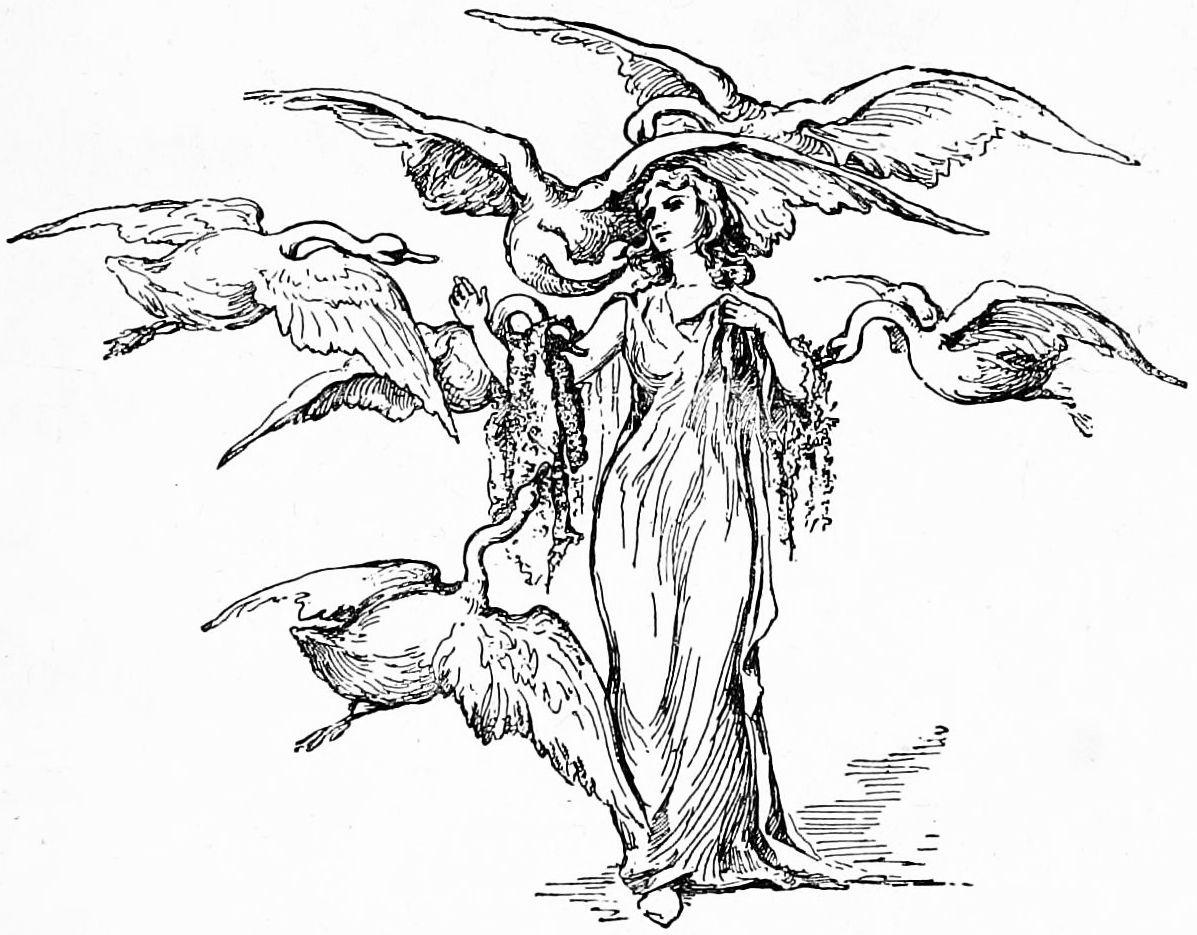 The Six Swans -- Caroline S. King -- Fairytale Illustration