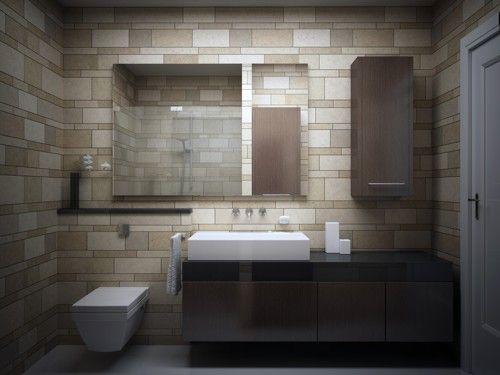 Modern Slate Tile Bathroom