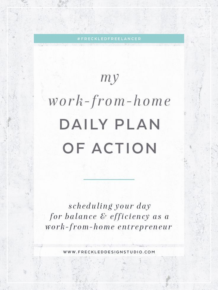 The new normal workfromhome daily plan of action