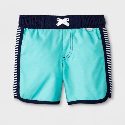 583d69f555 Toddler Boys' Striped Swim Trunks - Cat & Jack™ Blue 3T | SWIM ...