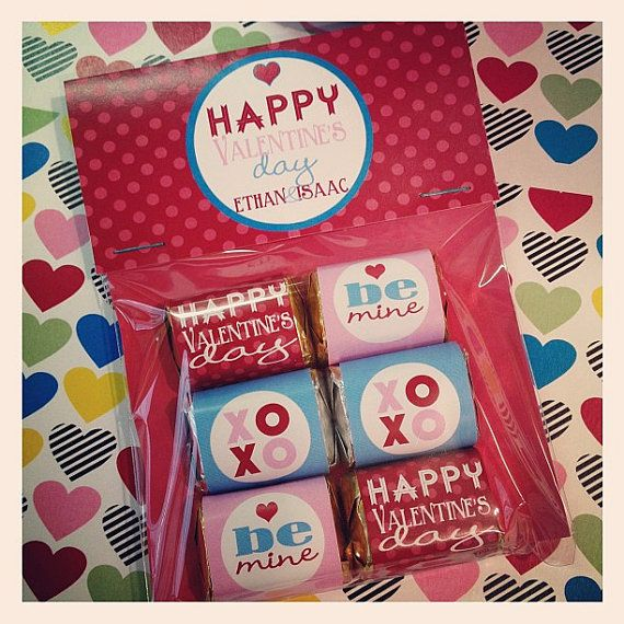 Valentine's Mini Candy / Chocolate Favors by ASPaperie on Etsy, $4.00