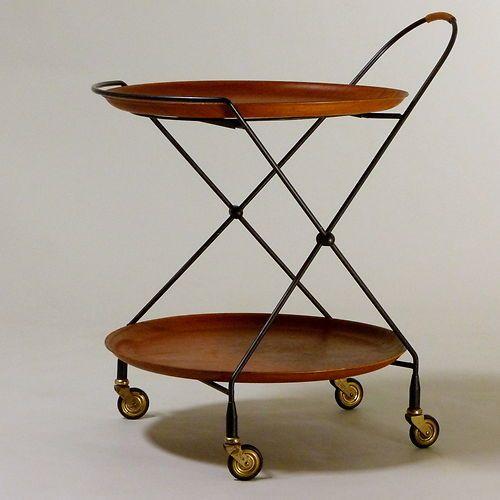 Teewagen/ Servierwagen Made in Sweden  Original aus den 60er Jahren Danish Modern, Mid Century