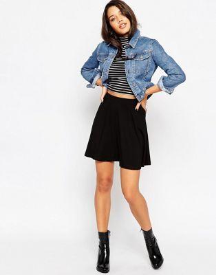 a496a5ddb9b Mini skater skirt with pockets